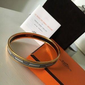 Hermes bracelet in printed enamel
